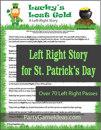 St Patricks Day Left Right Printable Game