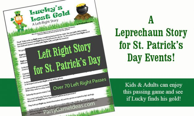 St Patricks Day Left Right Story Game