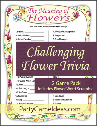 Flower Meaning Trivia Games