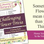 Meaning of Flowers Trivia Game