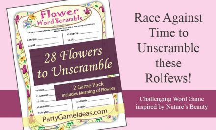Flower Word Scramble Printable Game
