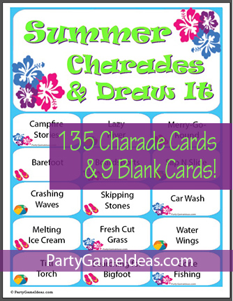 Summer Charades Ideas Party Games