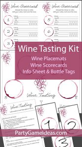 Printable Wine Tasting Kit