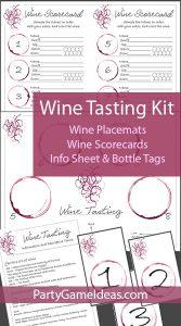 Printable Wine Tasting Kit