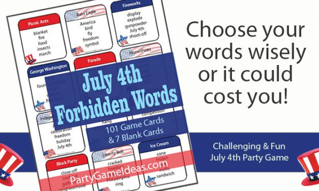 July 4th Forbidden Words Taboo Like Game