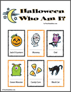 Halloween Who Am I Kids Party Game