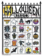 Halloween Bingo Cards - Printable Card Packs