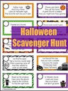 Printable Halloween Scavenger Hunt for Kids Game