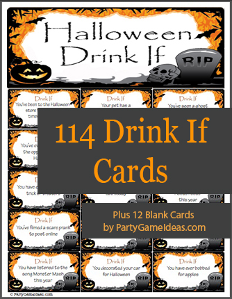 Halloween Drink If Game Cards