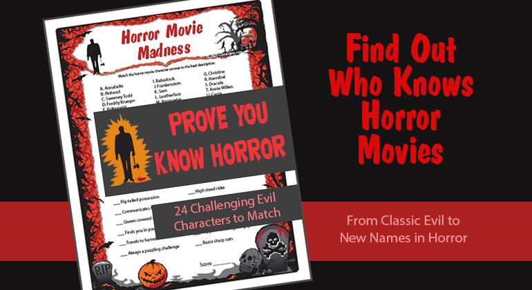 Horror Movie Madness Game