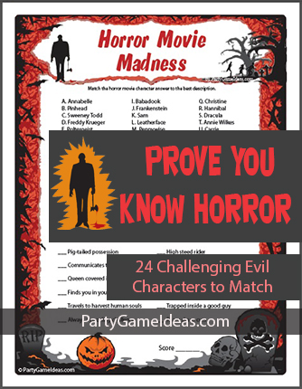 Horror Movie Trivia Madness Game