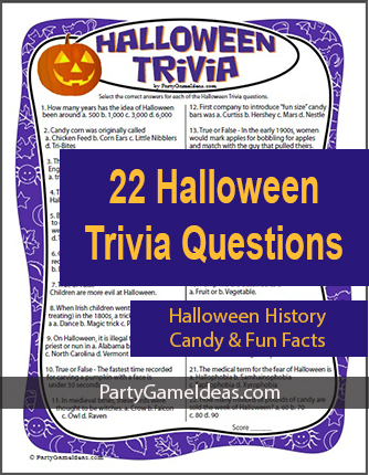Halloween Trivia Game 22 Questions