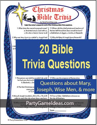 Christmas Bible Trivia Game