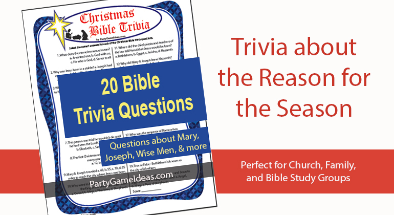 Christmas Bible Trivia Questions