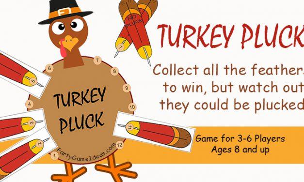 Turkey Pluck Thanksgiving Game