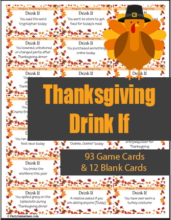 Thanksgiving Drink If Game Cards Printable