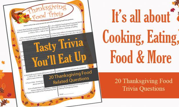 Thanksgiving Food Trivia Game