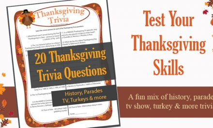 Thanksgiving Trivia Game