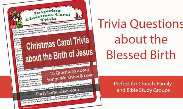Christmas Carol Bible Trivia Game