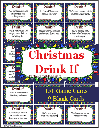 Christmas Drink If Game Cards