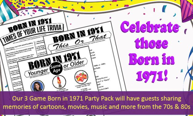 50th Birthday Party Born in 1971 Party Games