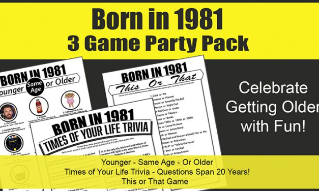 Born in 1981 Birthday Party Games 40th Birthday