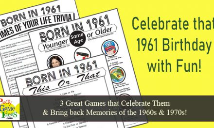60th Birthday Party Games Born in 1961
