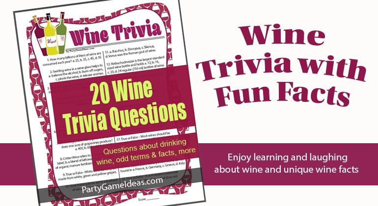 Wine Trivia 20 Questions