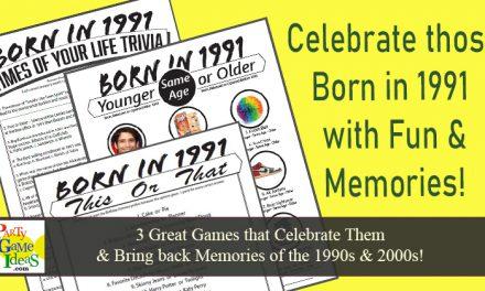 1991 Birthday Party Games 30th Birthday