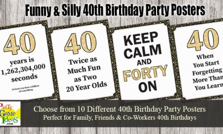 40th Birthday Party Posters Funny Quotes