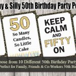 50th Birthday Party Posters Funny Quotes