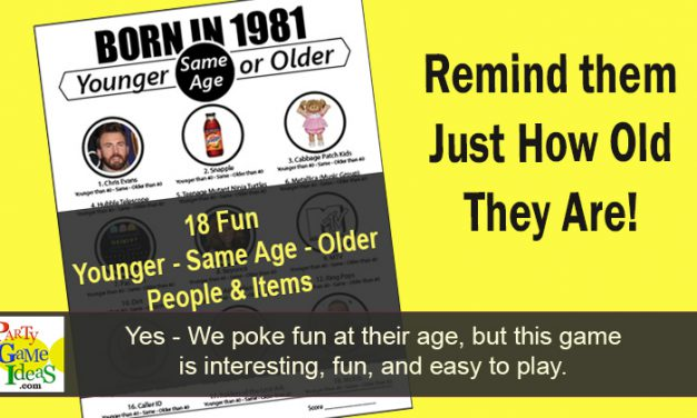 Younger or Older Game Born in 1981