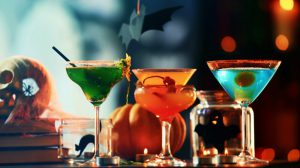 Halloween cocktail making party theme party