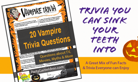 Vampire Trivia Questions Printable Game
