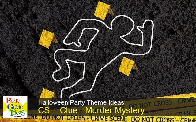 crime scene outline body tape murder mystery party