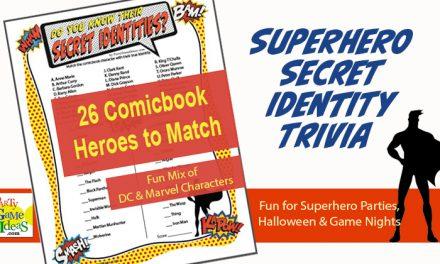 Comic Book Heroes Secret Identity Trivia Game