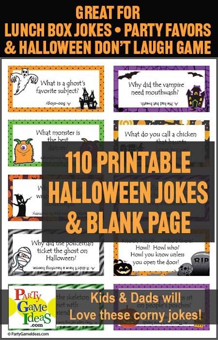 110 Printable Halloween Jokes Lunch Box Jokes Funny Dad Jokes
