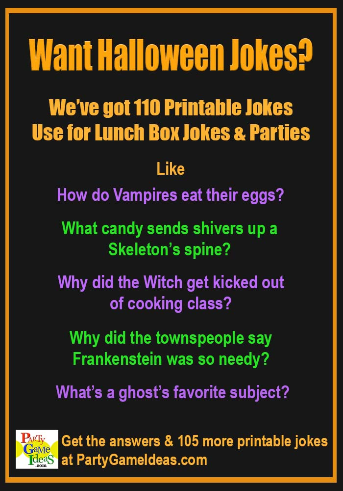 Halloween Jokes and Riddles Printables October LunchBox Notes