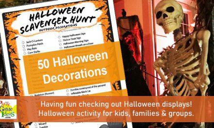 Halloween Decorations Scavenger Hunt List